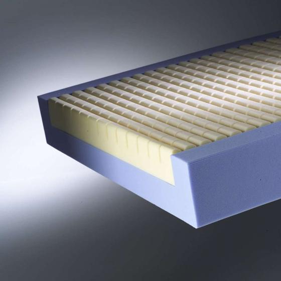 castellated foam core of the premier pressure relief mattress